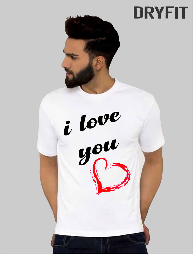 I love u Dryfit  Half Sleeve T-Shirt