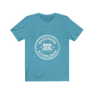 Rickhouse Ramblings White Logo Unisex Jersey Short Sleeve Tee