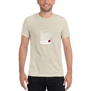 Bourbon Rocks Glass Unisex Tri-Blend Short Sleeve T-Shirt