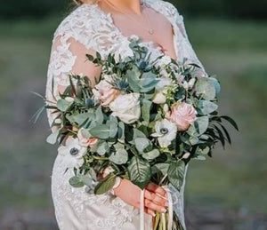 Wedding Flowers - Anemones and Dried Flowers Country Feel