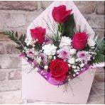 Mothers Day Flowers Delivery - Roses in Box - 4 Roses - Mandies Creations Florist