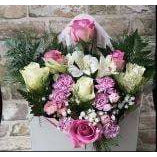 Mothers Day Flowers Delivery - Roses in Box - 6 Roses - Mandies Creations Florist