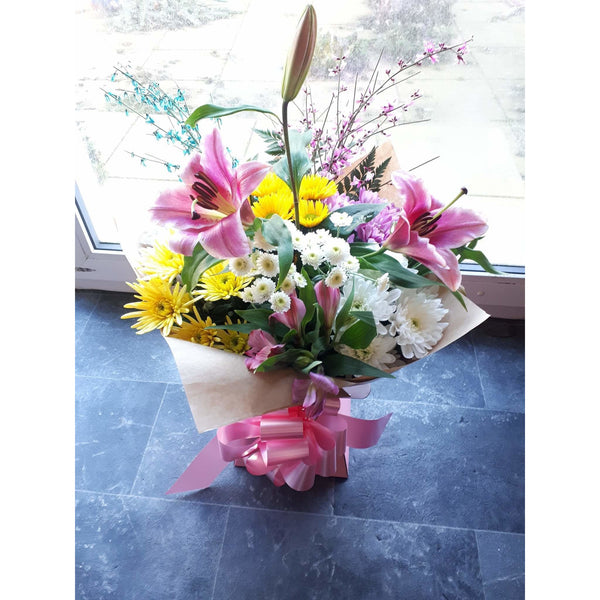 Flower Delivery - Lily, Rose and Chrysanthemum - Mandies Creations Florist