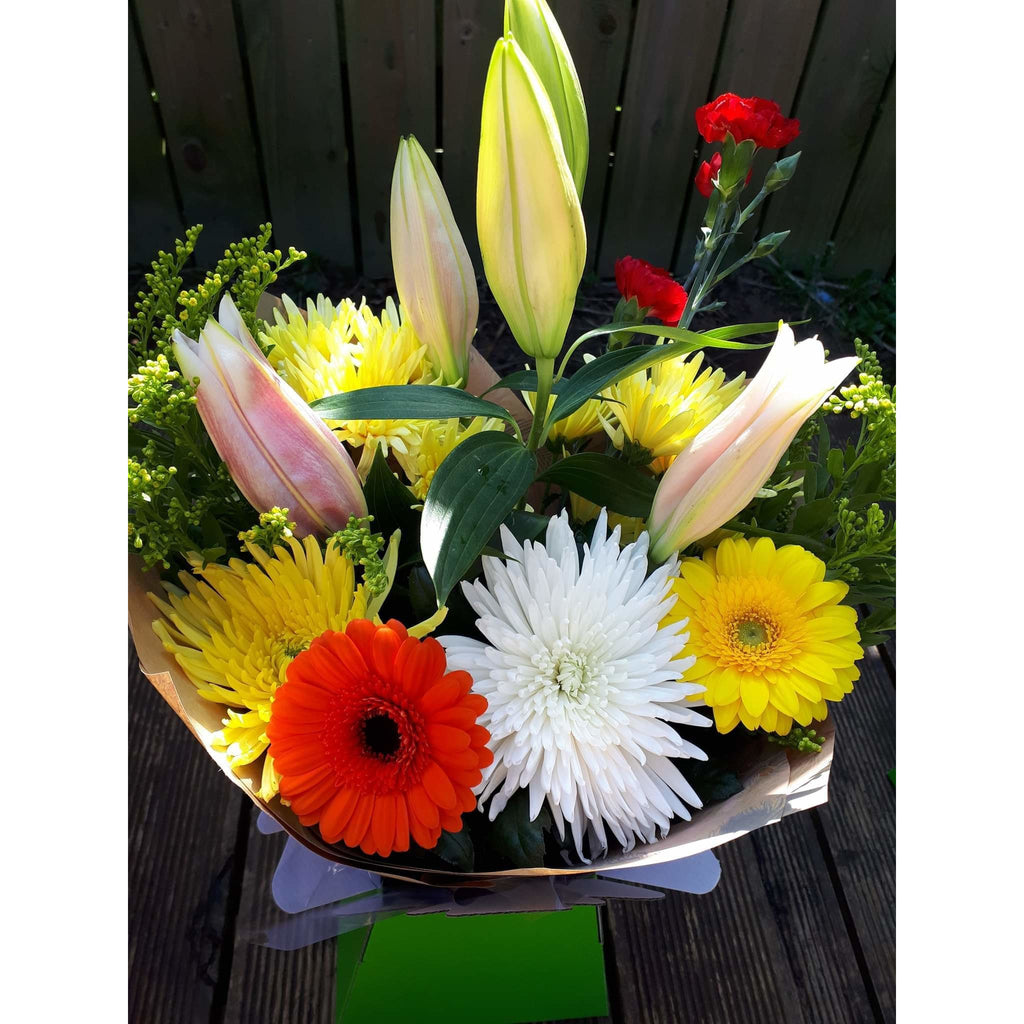 Mothers Day Flowers Delivery - Florists Belfast - Lily, Gerbra, Anastasia & Solidago - Mandies Creations Florist