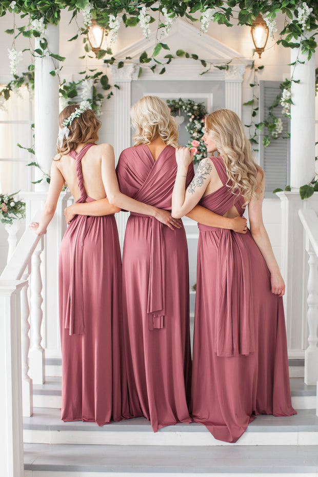 Floor Length LONG Ball Gown Maxi Infinity Dress Convertible Formal Multiway Wrap Bridesmaid Dress Evening Dress Wedding - idocrewbridal