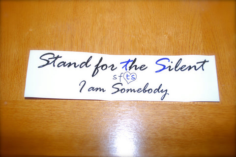 """I Am Somebody"" Bumper Sticker"