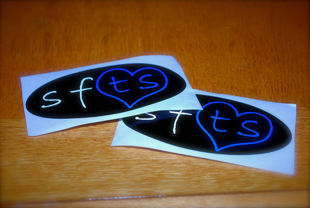 "3 - ""SFTS"" Oval Stickers"