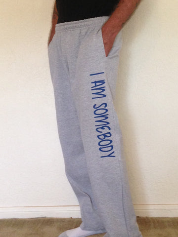 I Am Somebody Adult Sweatpant w/ Pockets - Grey