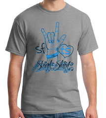"Grey ""SFTS with hand sign"" Shirt"