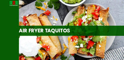 Air Fryer Taquitos with Cauliflower and Black Beans