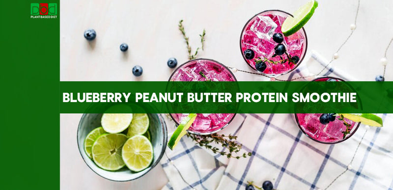 BLUEBERRY PEANUT BUTTER PROTEIN SMOOTHIE