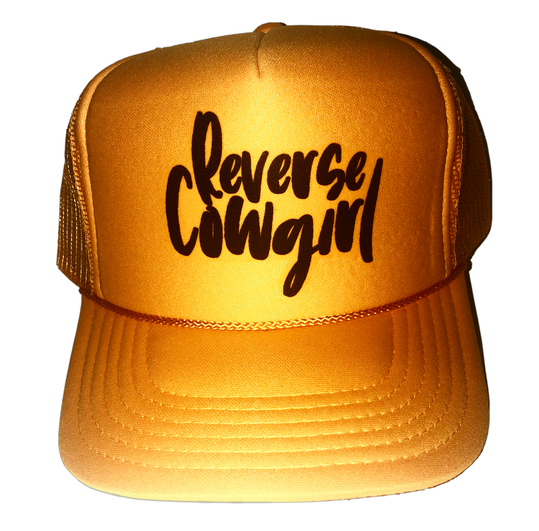 Reverse Cowgirl Inappropriate Trucker Hat