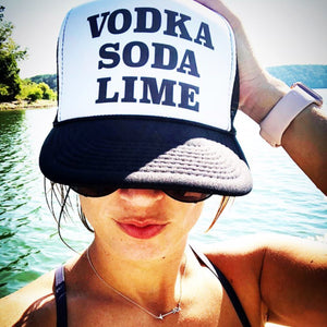 Vodka Soda Lime Trucker Hat