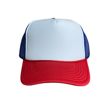 Load image into Gallery viewer, White Front Custom Trucker Hat