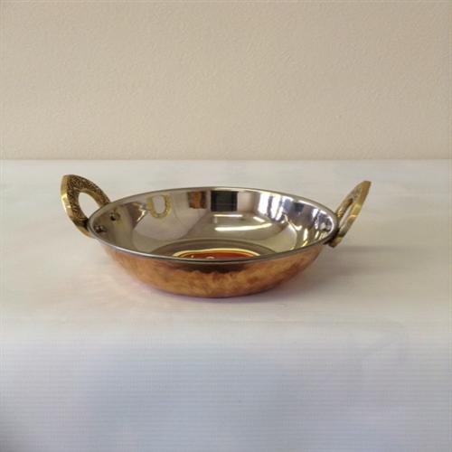 Copper Stainless Steel Kadai (Serving Bowl) No 1