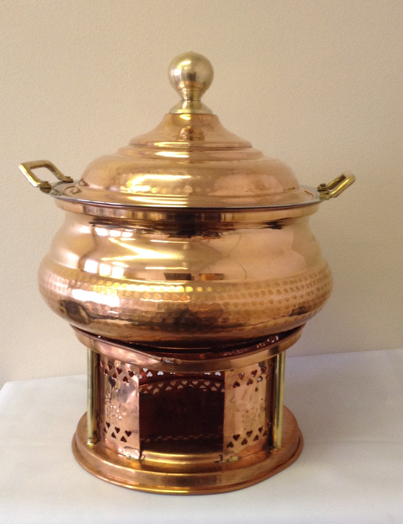 Copper Chafing Dish No 4 (8 Qt)