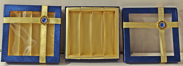 Blue Golden Sweet Box 500 Grams 4 Partition- S008
