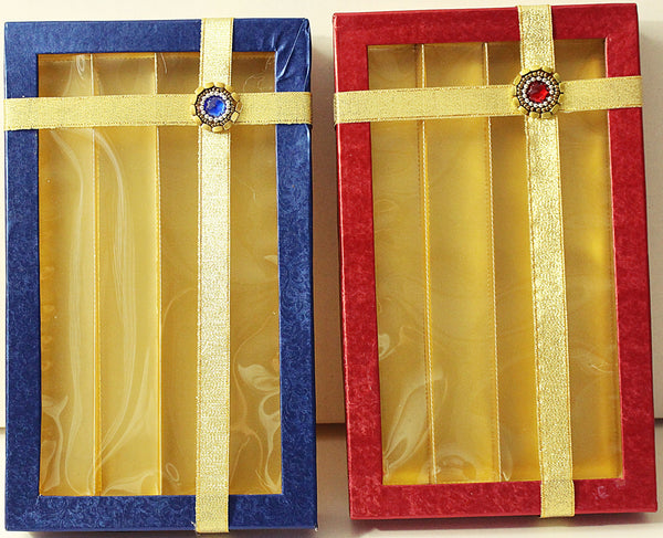 Blue & Red Sweet Box 1 Kg 4 Partition- S024