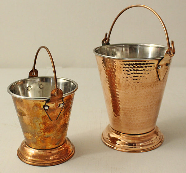 Copper Hammered Bucket No 2