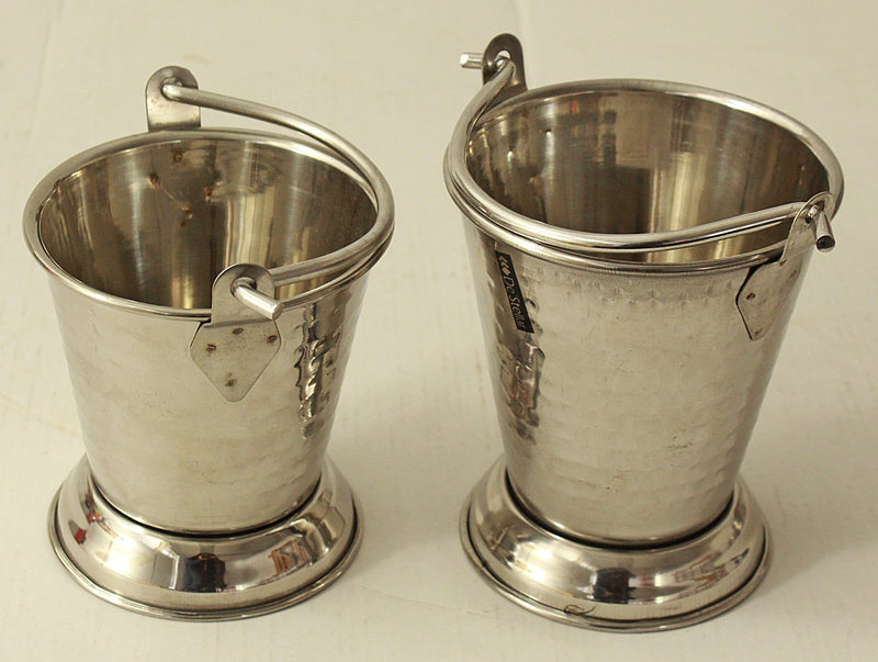 Stainless Steel Hammered Bucket No 2