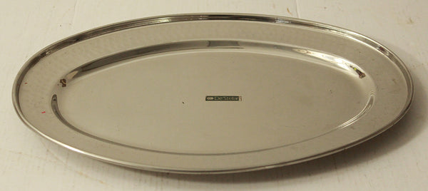 Stainless Steel Hammered Oval Dish No 1