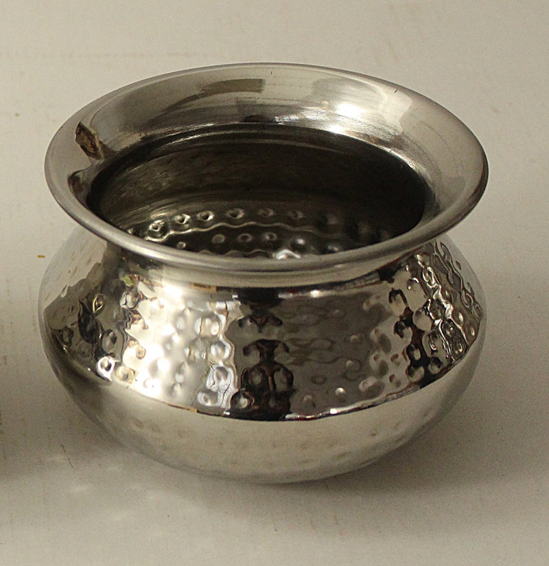 Stainless Steel Hammered Punjabi Handi No 3
