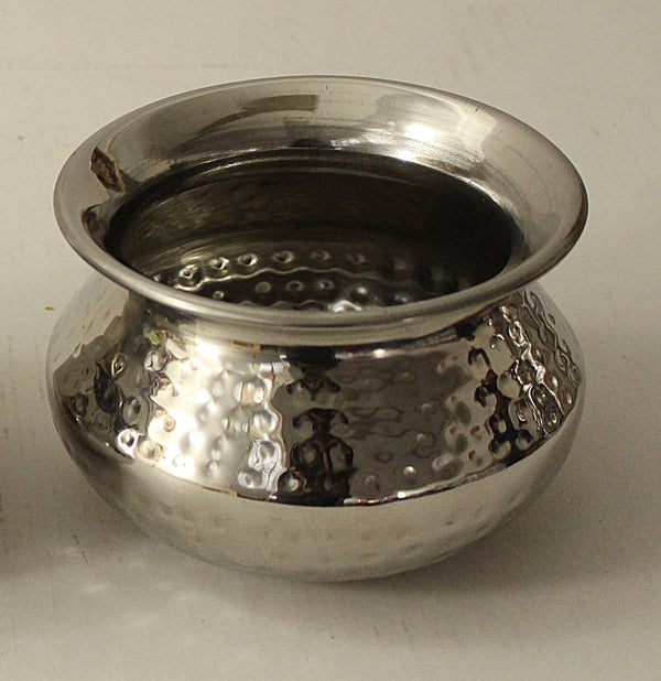 Stainless Steel Hammered Punjabi Handi No 2