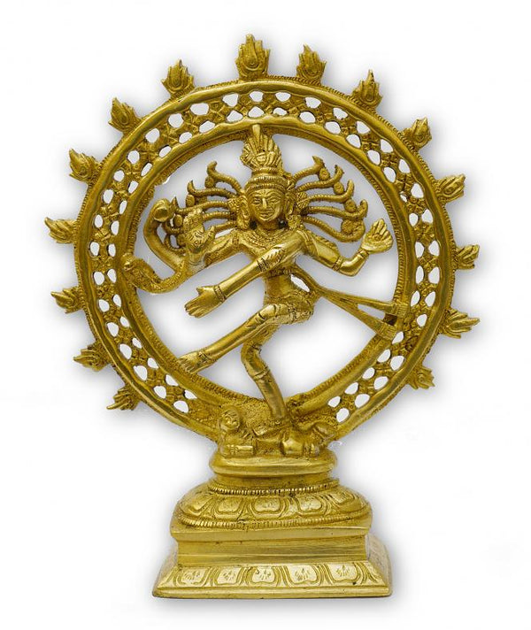 Brass Nataraj Idol Lord Shiva dancing