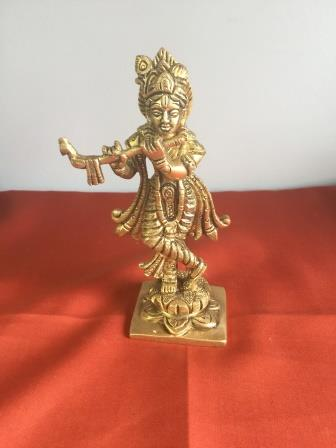 Brass Made Kirshna Statue No. 1 - 6.5""