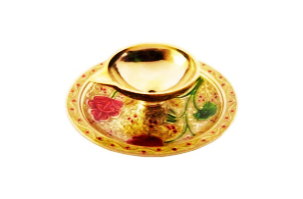 Brass Meenakari Traditional Mini Diya for Pooja