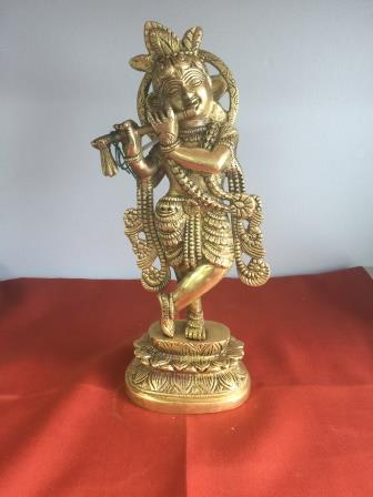 Brass Made Exclusive Kirshna Statue No. 2 - 10""