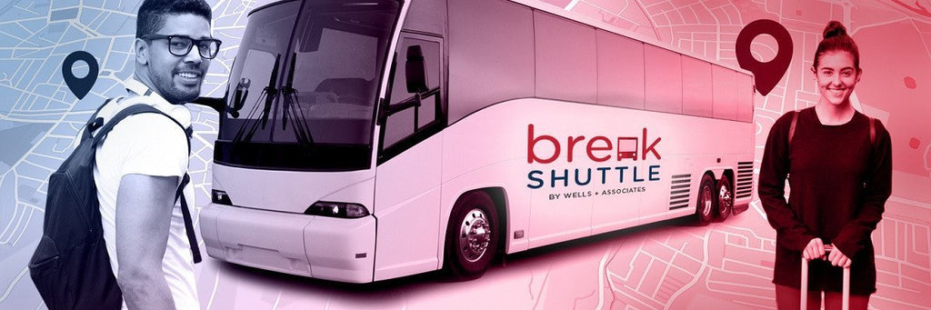 break shuttle college break transportation, break shuttle fall winter spring break