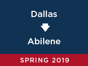 Spring-2019: Abilene FROM Dallas