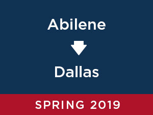 Spring-2019: Abilene TO Dallas