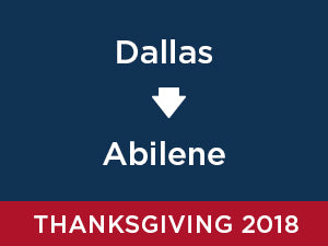 Thanksgiving-2018: Abilene FROM Dallas