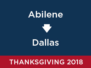 Thanksgiving-2018: Abilene TO Dallas