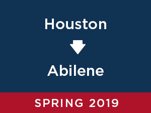 Spring-2019: Abilene FROM Houston