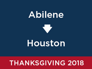 Thanksgiving-2018: Abilene TO Houston