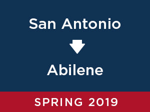 Spring-2019: Abilene FROM San Antonio