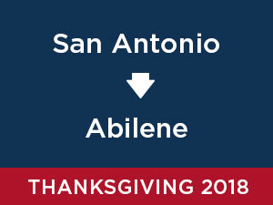 Thanksgiving-2018: Abilene FROM San Antonio