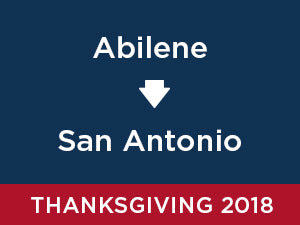 Thanksgiving-2018: Abilene TO San Antonio
