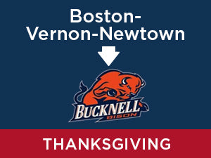 Thanksgiving-2019: Bucknell FROM Boston - Vernon - Newtown