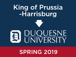 Spring-2019: Duquesne University FROM King of Prussia - Harrisburg
