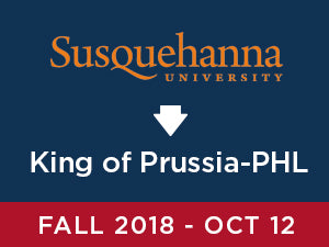 Fall-2018: Susquehanna TO King of Prussia - PHL Airport (Friday PM)