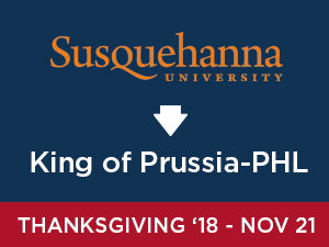 Thanksgiving-2018: Susquehanna TO King of Prussia - PHL Airport (Wednesday AM)