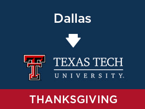 Thanksgiving-2019: Texas Tech FROM Dallas