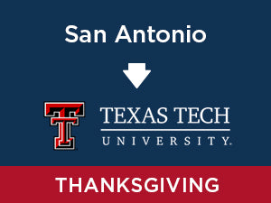 Thanksgiving-2019: Texas Tech FROM San Antonio