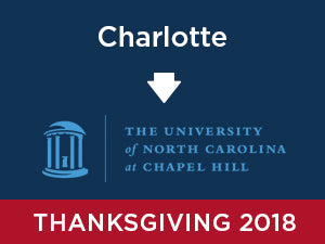 Thanksgiving-2018: UNC Chapel Hill FROM Charlotte