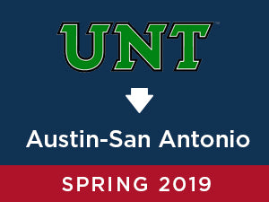Spring-2019: University of North Texas TO Austin - San Antonio