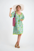 Sao Paulo Dress Bluebell Bloom $119